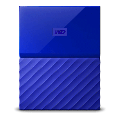 WD My Passport 1TB USB 3.0 Portable External Hard Drive (Blue)
